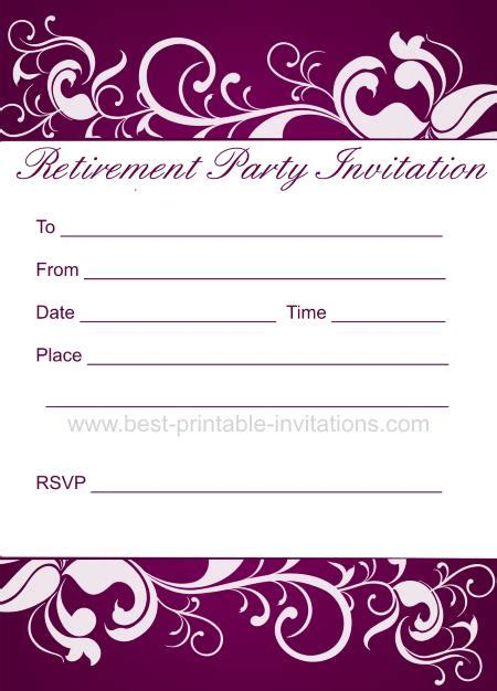 Free Printable Retirement Invitations Free Printable Retirement Invitations Gangcraft Net