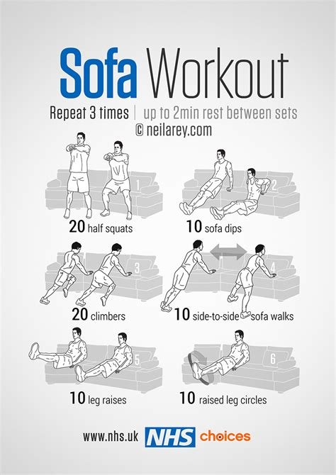 sofa exercises gym free workouts live well nhs choices