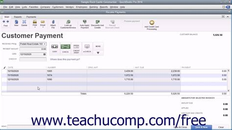 quickbooks tutorial youtube 2016 quickbooks pro 2016 tutorial applying one payment to