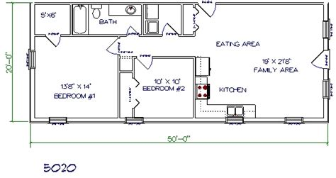 home design 20 x 50 30 barndominium floor plans for different purpose
