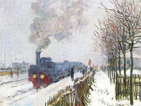 le dans la neige la locomotive c monet w 356