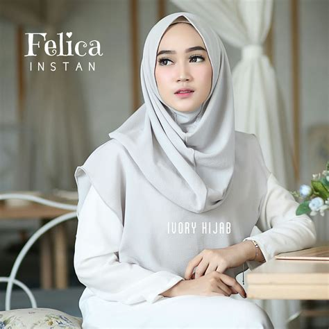 fashion hijab terbaru  hijab instan felica simple