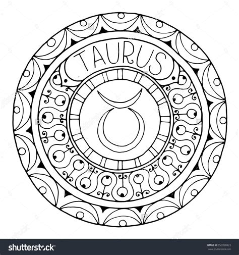 zodiac mandala coloring pages zodiac sign of taurus 350998823