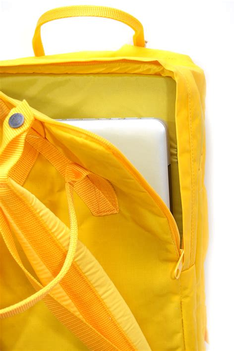 warm yellow fjallraven kanken warm yellow 17 laptop backpack wooki