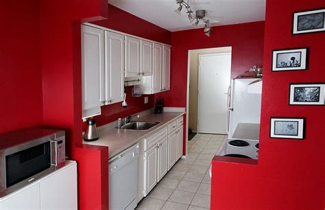 red kitchen with white cabinets tile splashback ideas pictures red painted kitchens