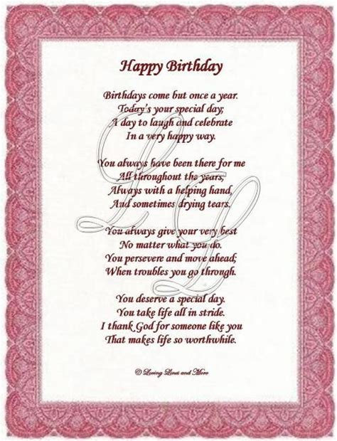 Birthday Card Poems For 25 Best Ideas About Birthday Poems On Pinterest
