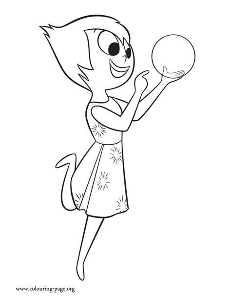 coloring pages for joy inside out joy with a glowing light coloring page