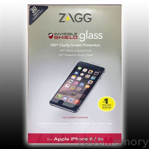 zagg invisible shield tempered glass screen protector for