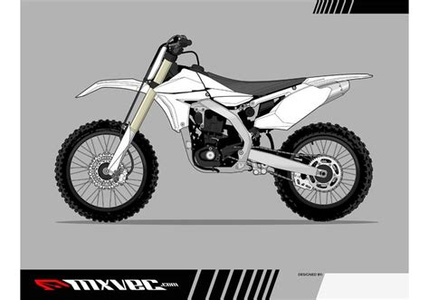 motocross bike vector template free vector art at vecteezy