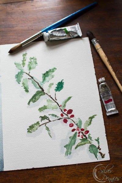 watercolor holly tutorial holly watercolor free printable silver free printable