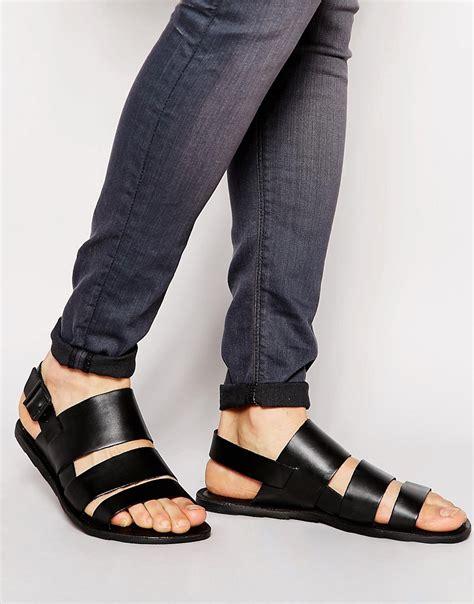 aldo sandals mens aldo aldo alaydia leather sandals at asos
