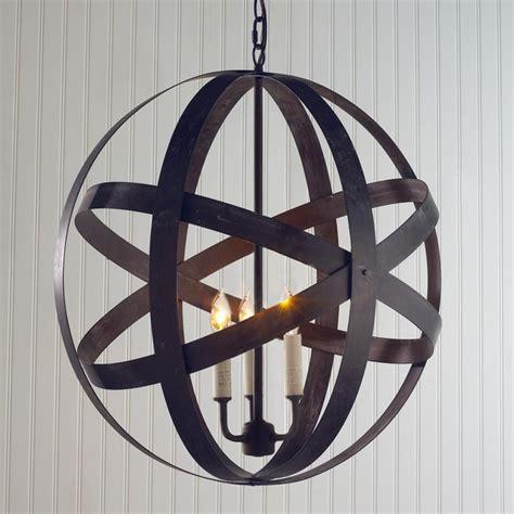 Metal Strap Globe Lantern Medium Outdoor Hanging Outdoor Hanging Globe Lights