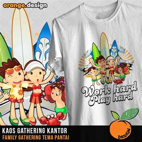 desain gambar family gathering desain kaos family gathering untuk acara outing atau