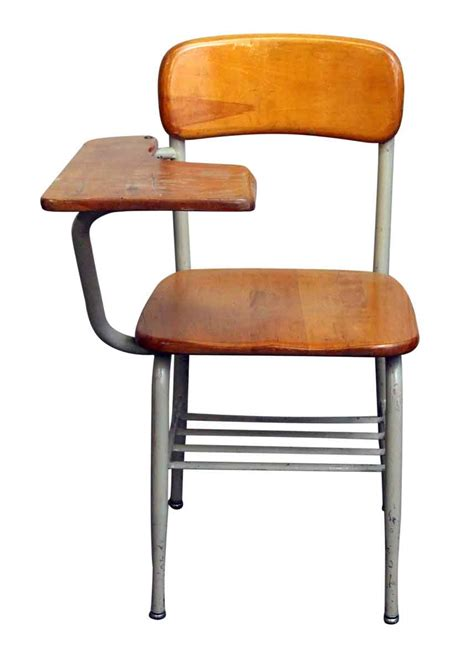 School Desk With Chair Attached by Salvaged School Chairs With Attached Desk Olde Things