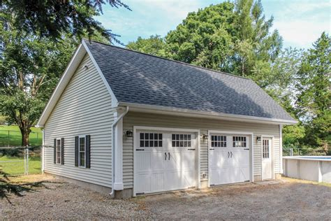 Two Story Pole Barn Woodstock Saltbox Style One Story Garage The Barn Yard