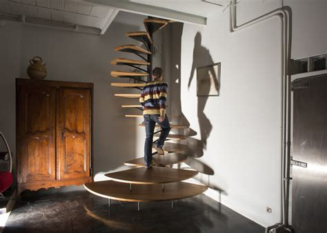 Fan Shaped Stairs By Architect Paul Coudamy Captivatist