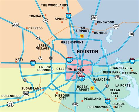 houston map neighborhoods houston tx suburbs map images