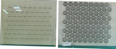silk screen templates lot of 4 original factory glass silk screen templates