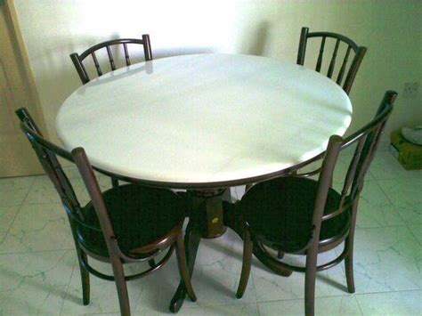 Dining Chairs For Sale Singapore by Kopitiam Style Marble Top Dining Set For Sale In Singapore