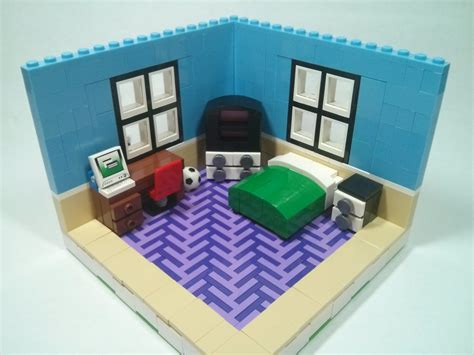 lego bed room lego bedroom moc