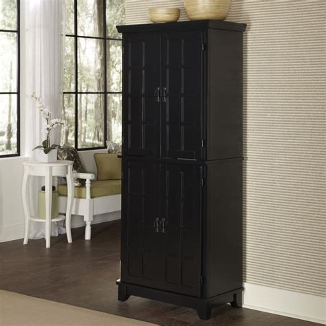 black kitchen pantry cabinet home styles arts crafts kitchen pantry black at hayneedle