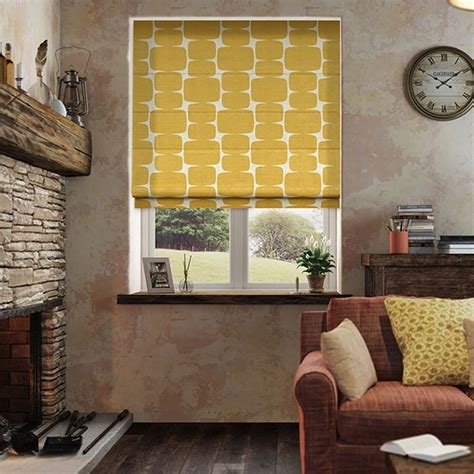 mustard patterned roller blinds lohko golden syrup roman blind golden syrup roman