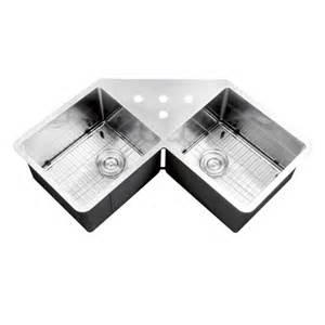 43 inch stainless steel undermount butterly corner