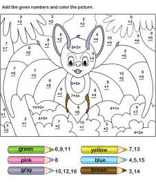 addition 187 color by number addition worksheets 3rd grade