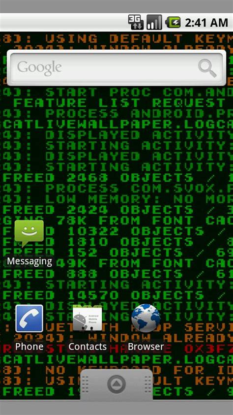 android logcat logcat live wallpaper android apps on play