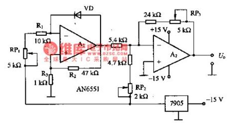 diode thermometer the thermometer composed of diode temperature sensors basic circuit circuit diagram seekic