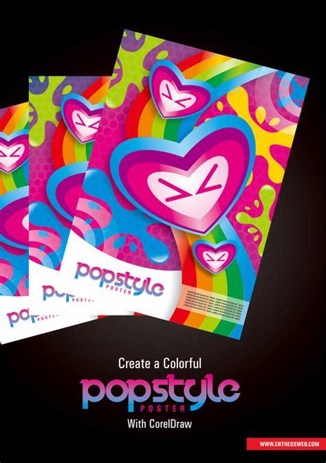 pop poster design آموزش کورل دراو طراحی پوستر در کورل دراو persiangfx