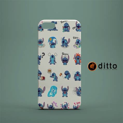 Custom Casing Iphone Samsung Mutah stitch emojis design custom by ditto for iphone 6 6