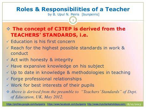 roles responsibilities of a teacher by bunpeiris
