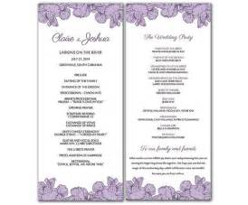 wedding program template microsoft word diy purple poppy flowers wedding program microsoft word