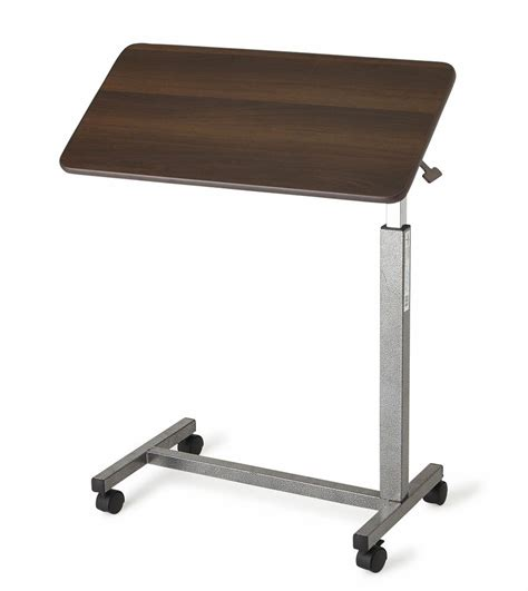 rolling adjustable bedside table tilt top bedside table bed rolling adjustable height