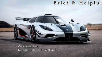 new fastest car in world top ten fastest cars in the world 2017
