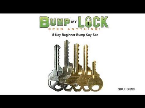 bump key template 5 key beginner bump key set