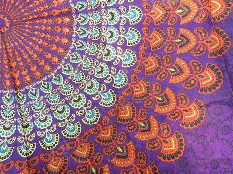 colorful tapestry hippie tapestry fabric colorful bohemian starburst pattern