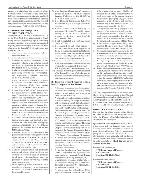 tax code section 62 nyc 4s ez general corporation tax return