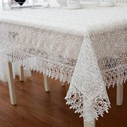 z287 lace tablecloth white rectangular floral