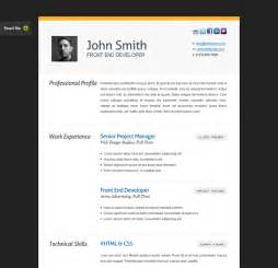 Resume Web Templates by The Best Free Premium Cv Resume Website Template Evohosting