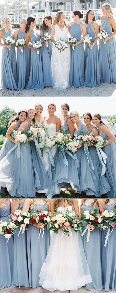 top  dusty blue bridesmaid dresses ideas  pinterest