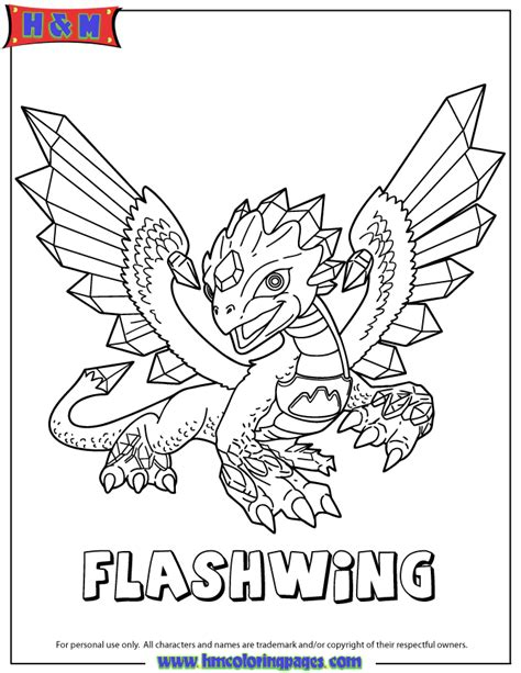 skylanders giants flashwing coloring page h m coloring