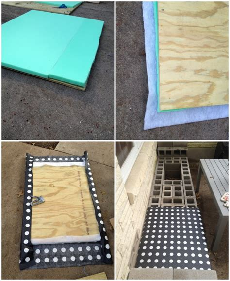 how to make a cinder block bench diy outdoor bench c r a f t