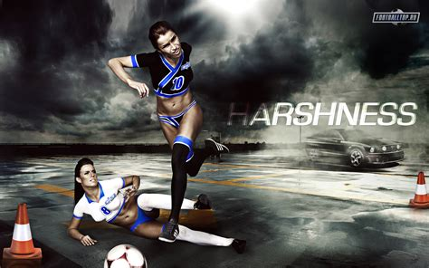 sporty girl wallpaper sporty girls with soccer ball wallpapers and images