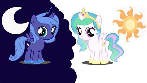 my little pony princess luna and celestia babies luna and celestia fillies the royal sisters pinterest