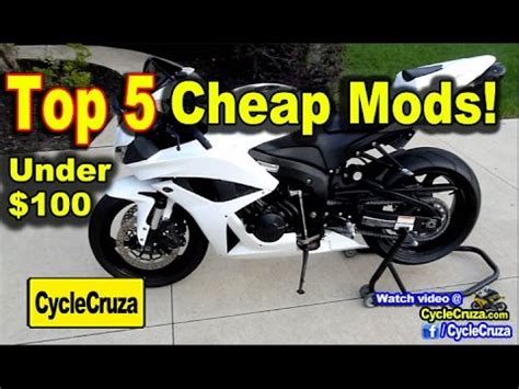 best cheap motorcycle top 5 cheap mods for motorcycle under 100 motovlog