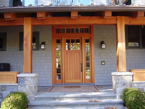 Porch Door And Frame Timber Frame Porch Entrance With A Custom Wood Door