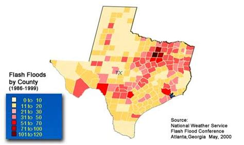 texas flood map flooding in texas map