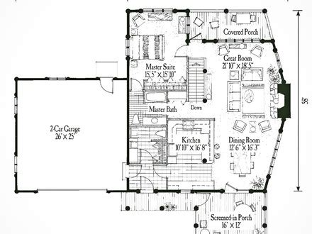 small guest house floor plans small cabin floor plans